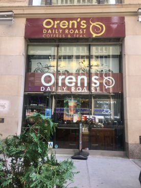 Front of Oren's Daily Roast, Times Square