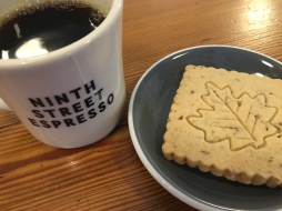 coffee and shortbread cookie ninth street espresso