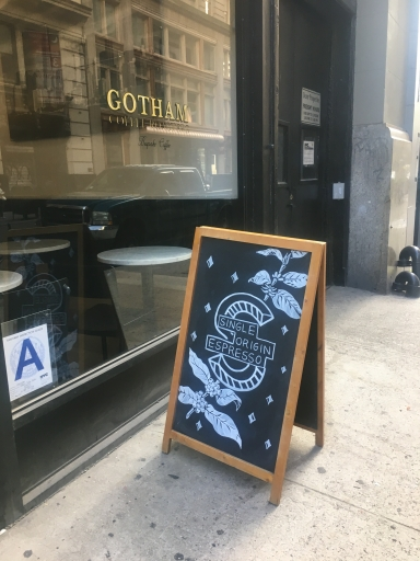 Gotham Coffee Sign